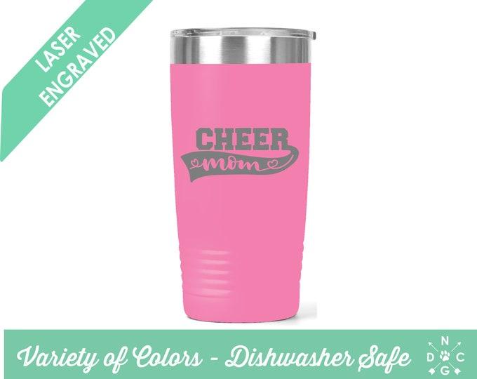 Cheer Mom Tumbler / Cheer Mom / Cheerleader Tumbler / Cheerleader Mom Tumbler / Cheerleader Mom / Custom Tumbler / Cheerleader