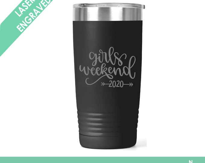 Girls Weekend Tumblers  Girls Weekend  Girls Getaway Personalized Tumbler Bachelorette Party Tumblers  Personalized Cups Etched Tumblers