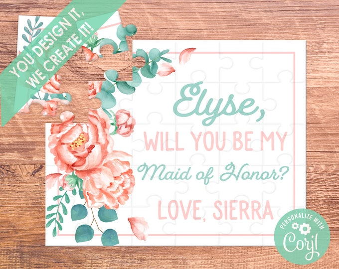 maid of honor will you be my bridesmaid proposal bridesmaid puzzle bridesmaid puzzle maid of honor gift  be my bridesmaid matron of honor