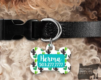 Custom Dog Tag for Dogs Dog ID Tags Personalized Pet cactus Pet Tag Pet Tags Pet ID Tag Pet id Tags for Dog Tag ID Dog Tag Dog Tags