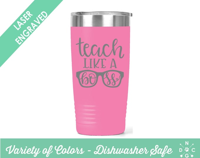 Teach Like A Boss / Teacher Coffee Cup / Gift for teacher / teacher retirement gift / teacher appreciation / Custom Coffee Mug