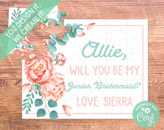 junior bridesmaid will you be my puzzle puzzle proposal proposal bridesmaid gift  will you be our  flower girl puzzle bridesmaid proposal
