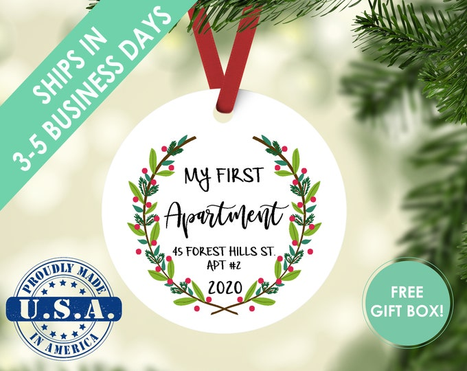 first apartment ornament / housewarming gift / Christmas ornament / new home ornament / my first home / first home / custom ornament