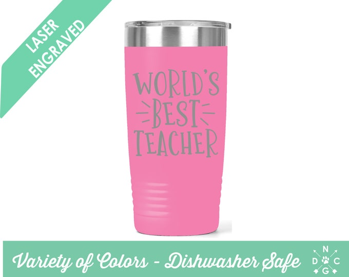 World's Best Teacher / Teacher Coffee Cup / Gift for teacher / teacher retirement gift / teacher appreciation / Custom Coffee Mug