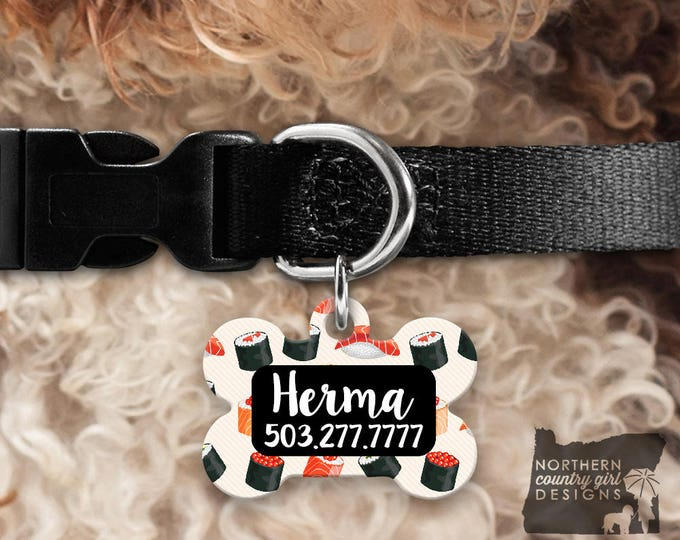 Custom Dog Tag for Dogs Dog ID Tags Personalized Pet Floral Pet Tag Pet Tags Pet ID Tag Pet id Tags for Dog Tag ID Dog Tag Dog Collar Tag