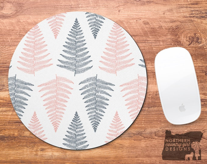 mouse pad / mousepad / tropical mouse pad / leaf mousepad / leaves / office decor / mouse mat / desk accessories / coworker gift / mousemat