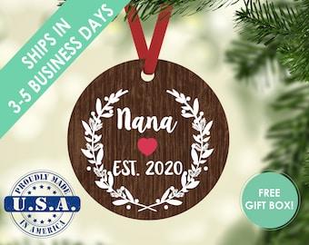 nana ornament / Christmas ornament / grandma ornament / nana gift / new grandma gift / grandparent ornament / grandma nana  grandma gift