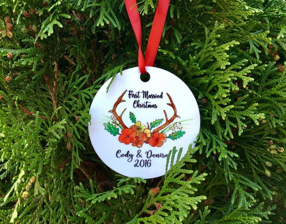 first married christmas ornament christmas ornament our first