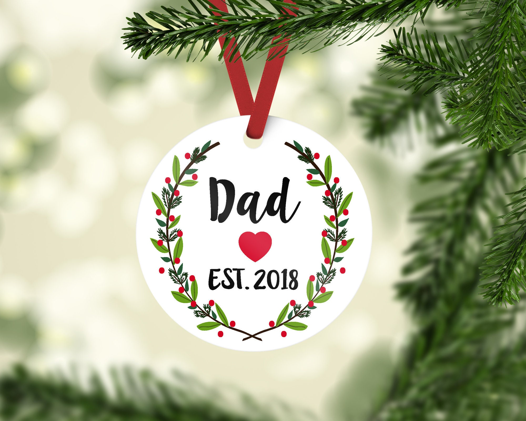 christmas ornament dad ornament ornament personalized custom ornament gift for dad christmas gift new dad ornament new dad - Dad Christmas Ornament