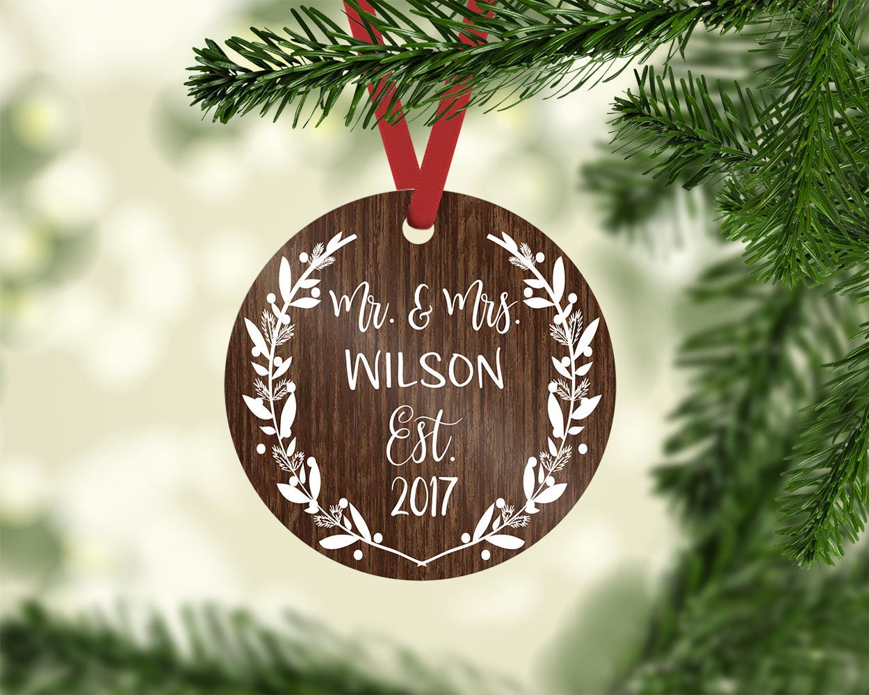mr mrs ornament christmas ornament our first christmas wedding ornament custom ornament first christmas wedding gift newlywed