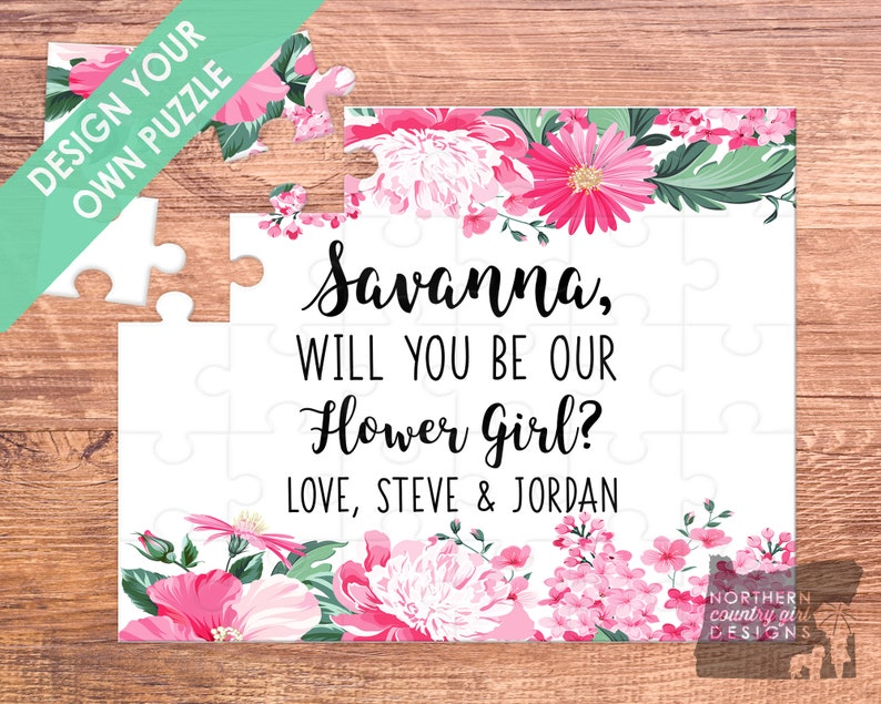 flower girl puzzle / flower girl gift / will you be my / image 0