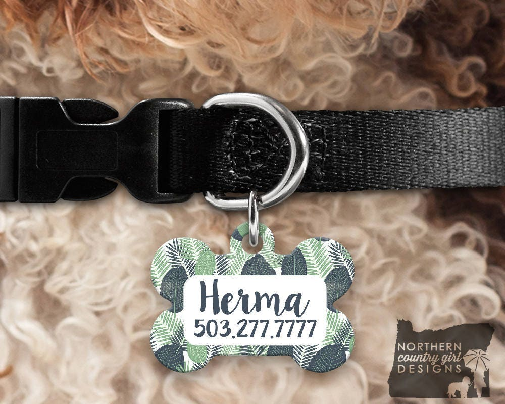 custom dog tag for dogs dog id tags personalized pet leaves pet tag