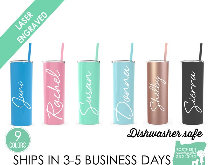 Set of 13- Stainless Steel Tumblers- Personalized Tumblers- Personalized Etched Tumblers,- Personalized Tumblers- Engraved Tumblers- Tumbler