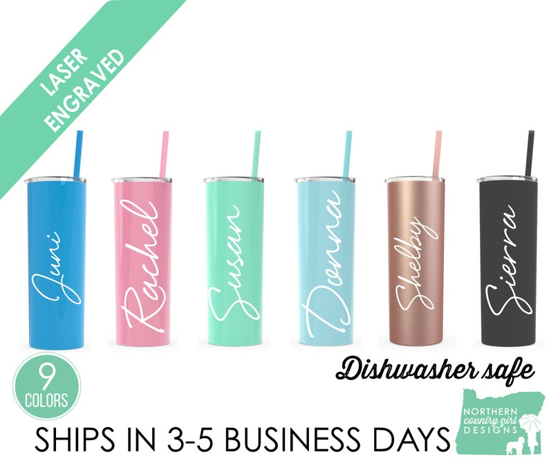 Set of 13 Stainless Steel Tumblers Personalized Tumblers image 0