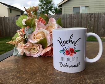 maid of honor mug / maid of honor gift / maid of honor / personalized mug / bridesmaid mug / bridesmaid gift / bridal party gift / wedding
