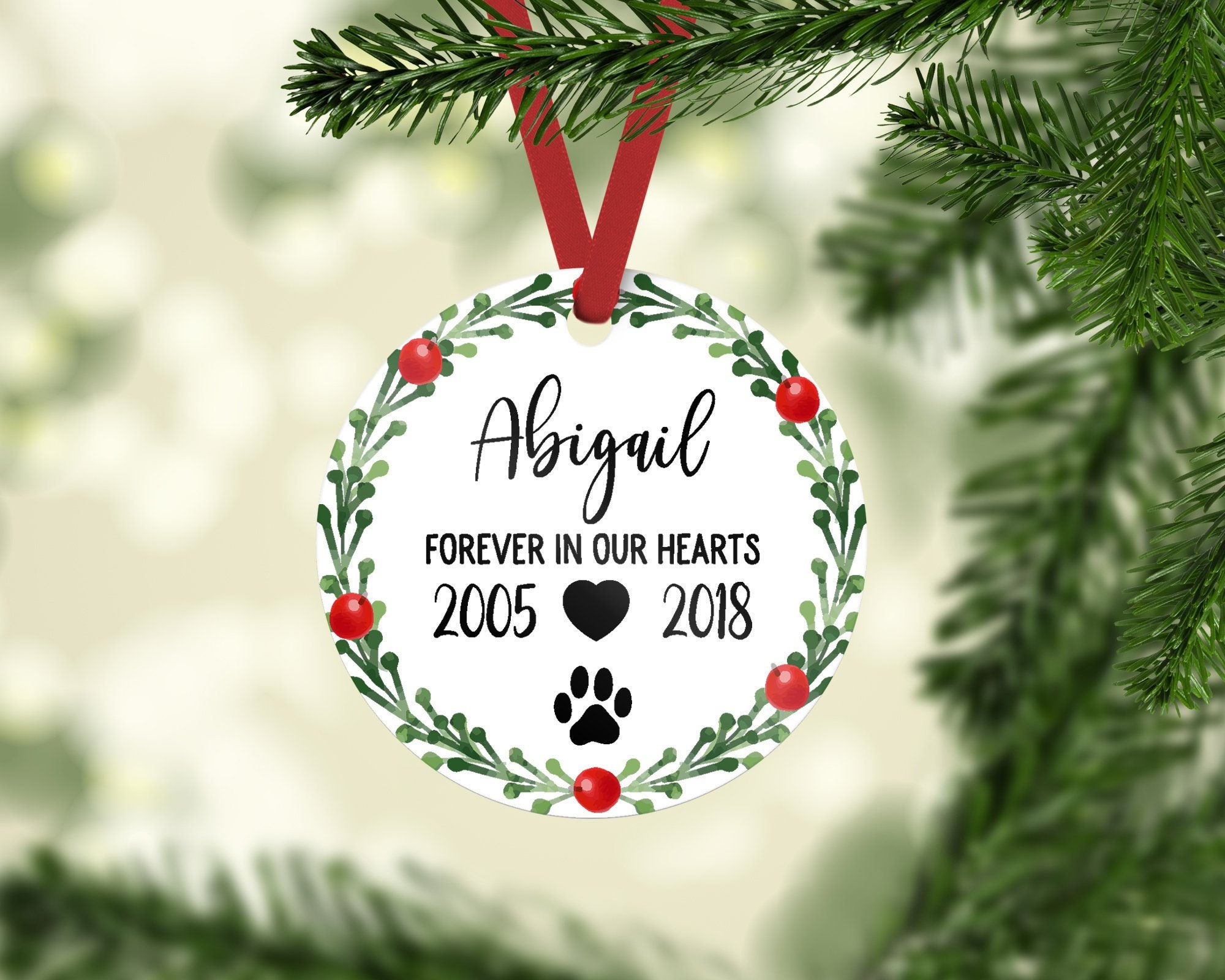 Pet Memorial Ornament Pet Memorial Gifts Dog Memorial Gift Dog ...