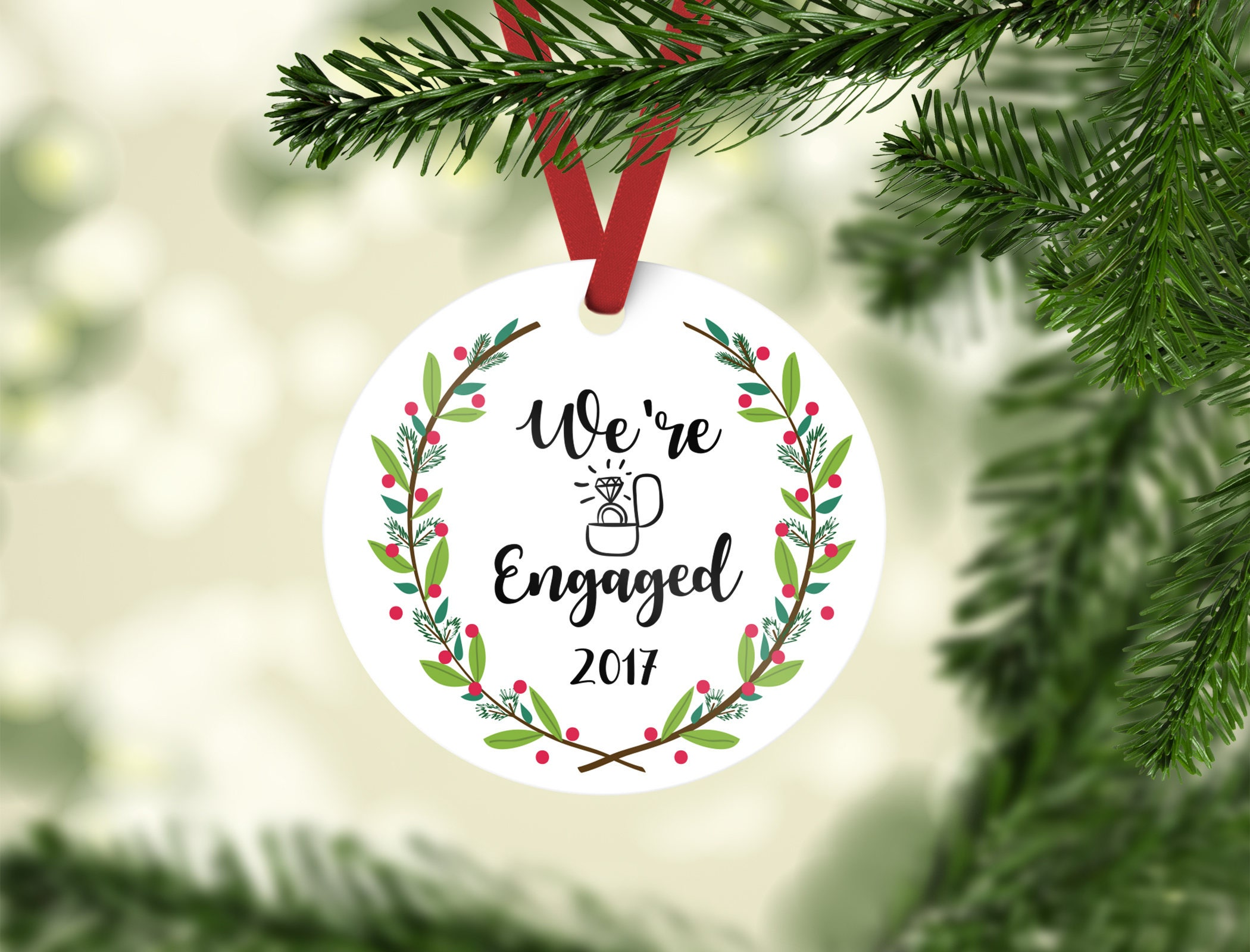 engagement ornament / engagement gift / christmas ornament / | Etsy