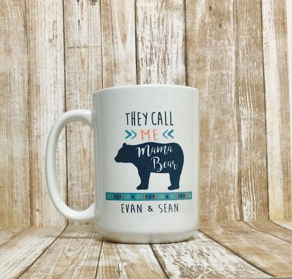 e57df41f66 mama bear mug / mama bear / personalized mom mug / gift for   Etsy