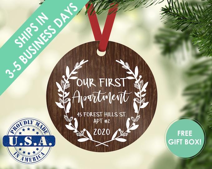 first apartment ornament / housewarming gift / Christmas ornament / our home ornament / our first home / first home / custom ornament