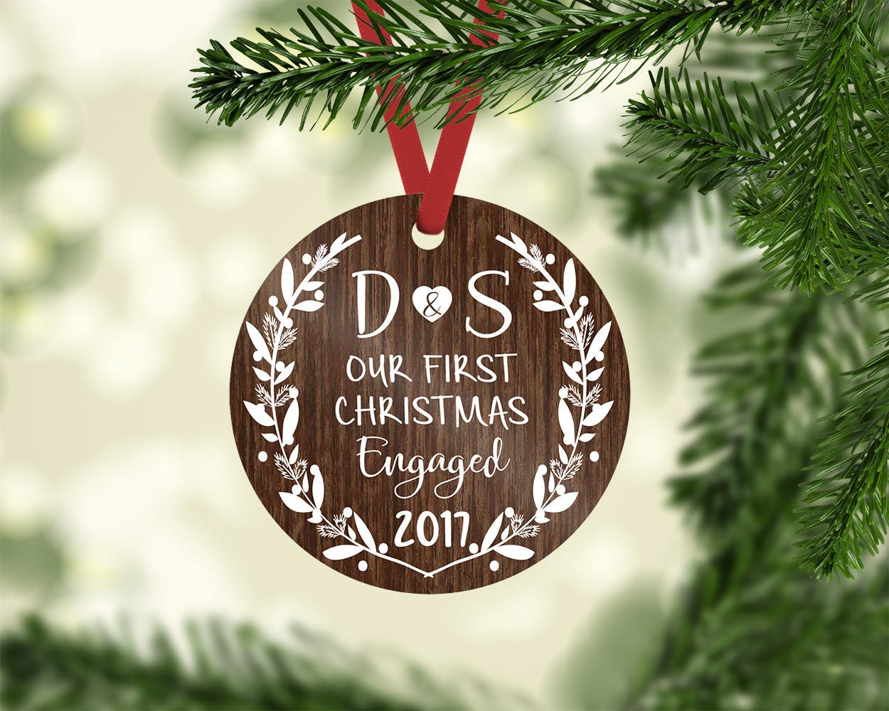 Wedding Gift Ornaments: Engagement Ornament / Engagement Gift / Christmas Ornament