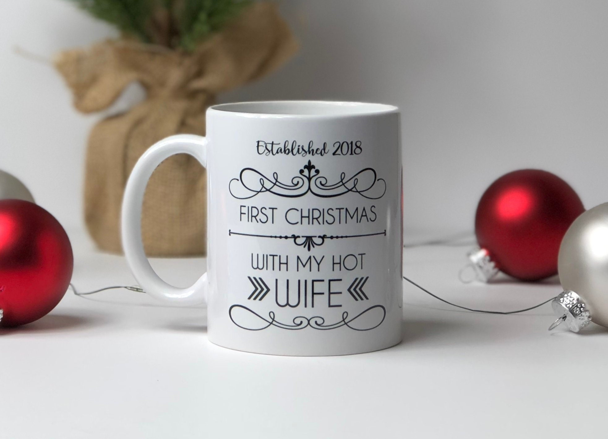 First Christmas Mug // hot wife // hot husband // First Christmas ...