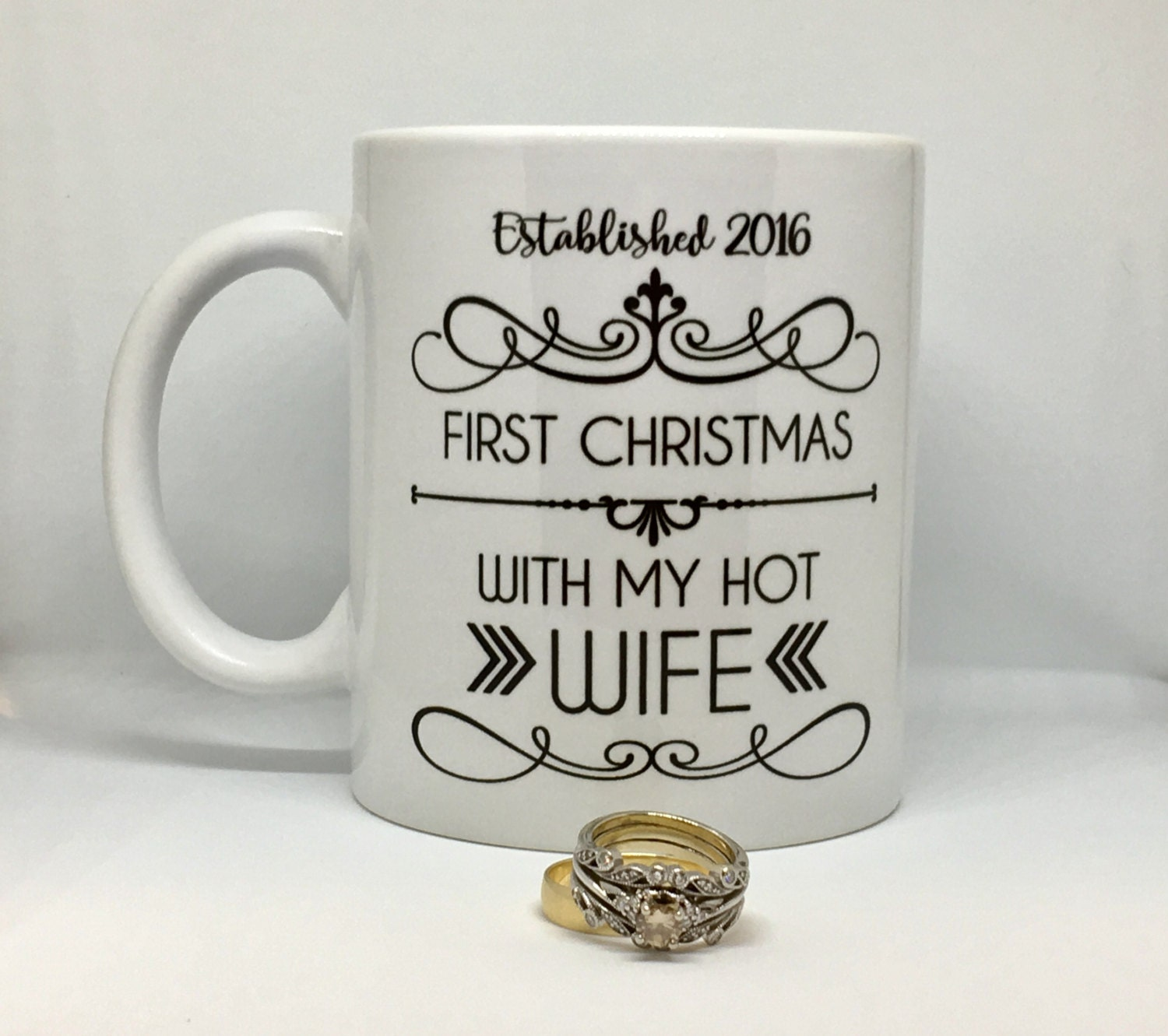 first christmas mug hot wife hot husband first christmas married gift christmas coffee mug 1st christmas christmas gift