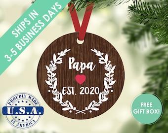 Christmas ornament / grandpa ornament / Christmas gift / grandparent ornament / new grandparents / custom ornament / first Christmas / baby