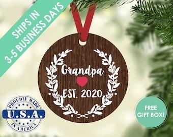 grandpa ornament / Christmas ornament / ornament / custom ornament / grandma ornament / Christmas gift / grandparent ornament / grandpa