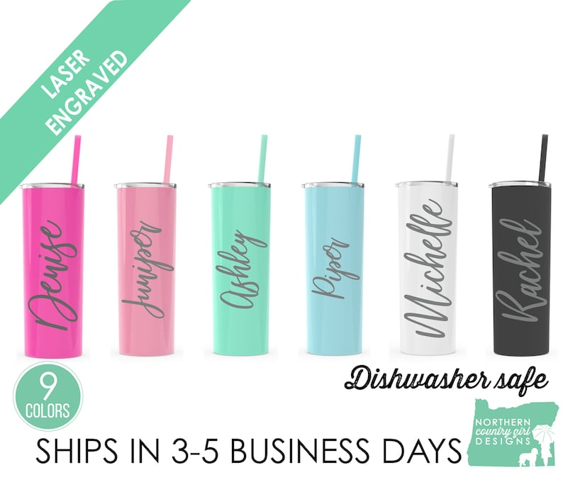 Set of 11 Stainless Steel Tumblers Personalized Tumblers image 0