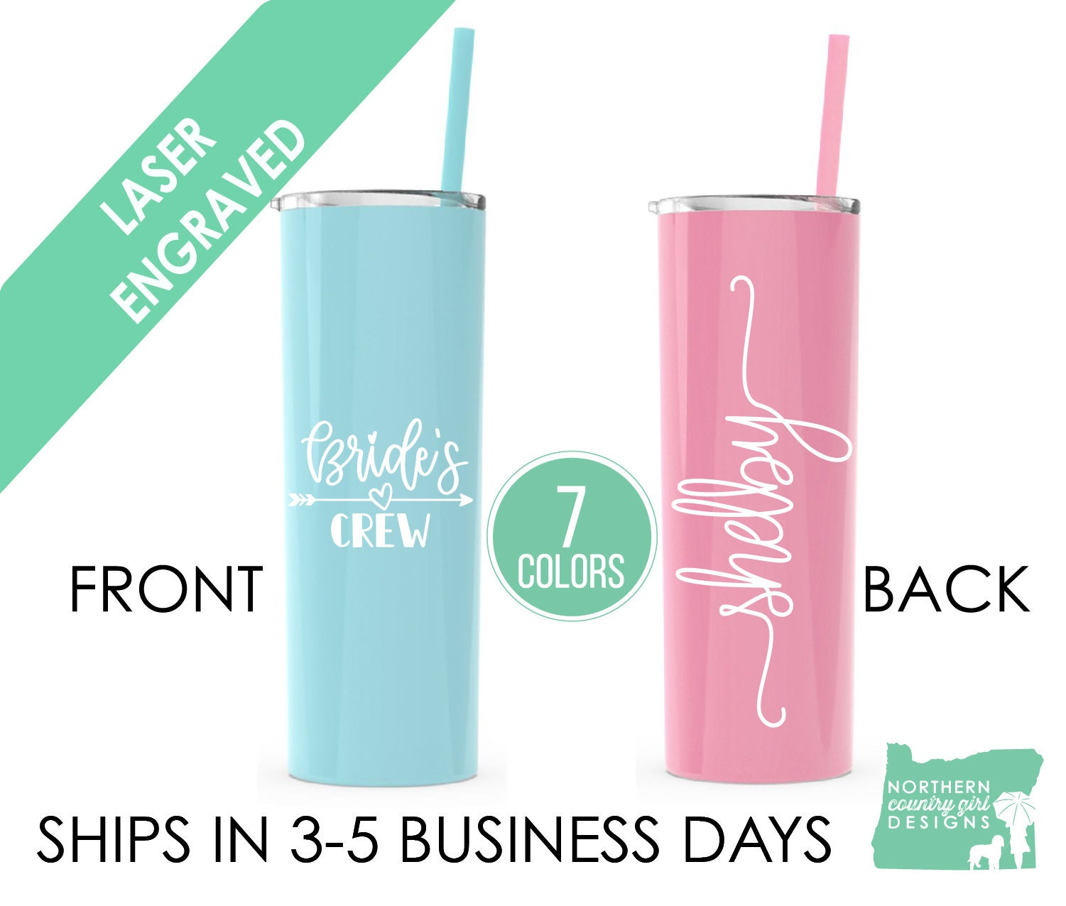 b78ef19aed2 ... Bridal Party, Bachelorette Party, Wedding Tumbler, Personalized, Tumbler  with Straw. 1