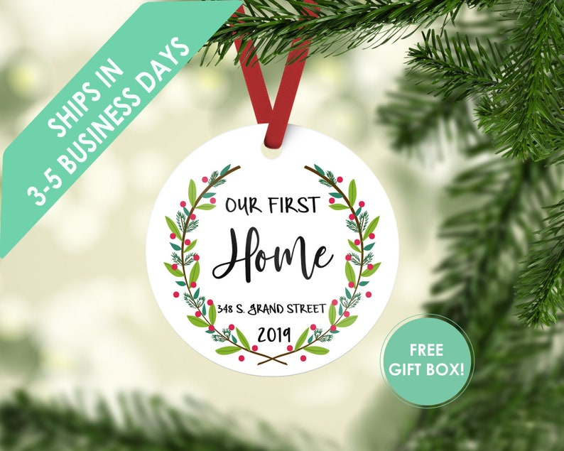 first home ornament / housewarming gift / Christmas ornament / image 0