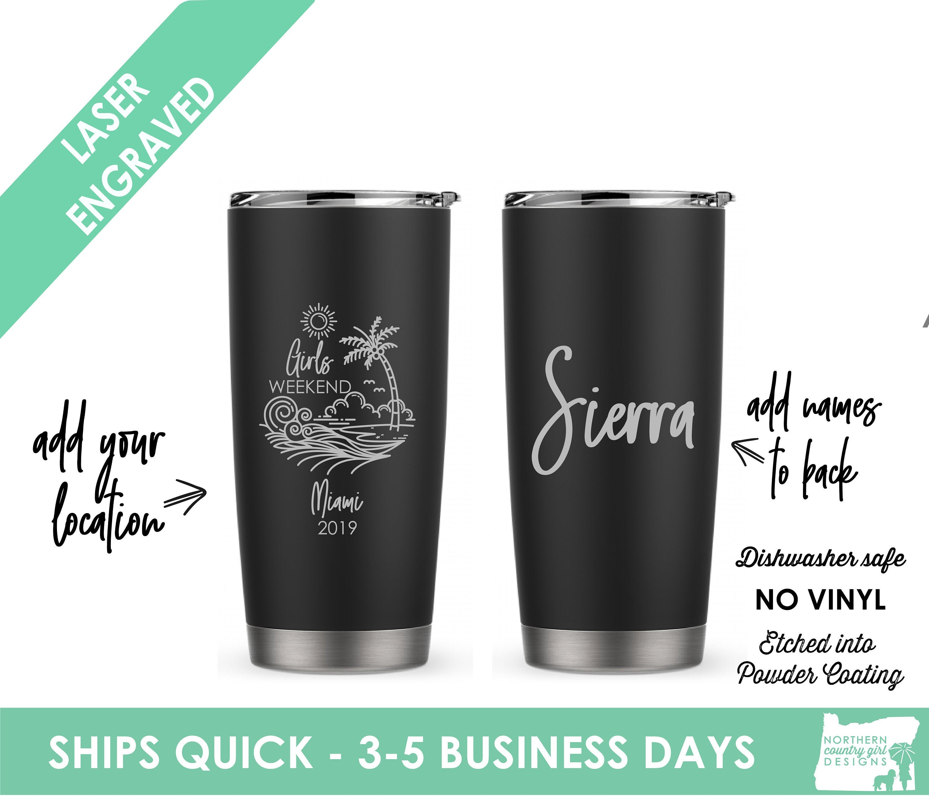 Personalized Powder Coated Tumbler with Your One Color Logo Decal.Choose colors.