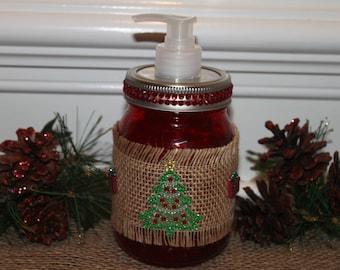 Mason Jar Christmas Soap Dispenser