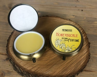 Solid Perfume - Honeysuckle - Made with Beeswax and Essential Oils