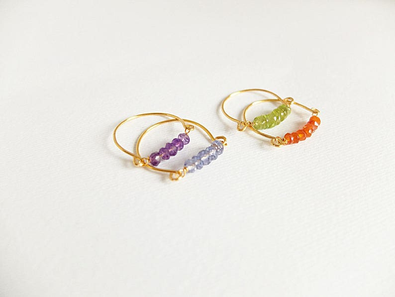 Gold filled wire rings