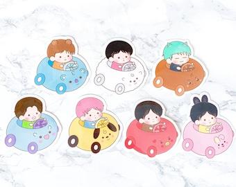 BTS Chibi Cars Stickers