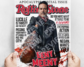 Negan - Faux The Walking Dead Magazine Cover