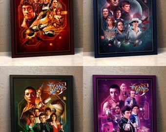 Blake's 7 Poster Pack x 4 - Series 1, 2, 3 & 4