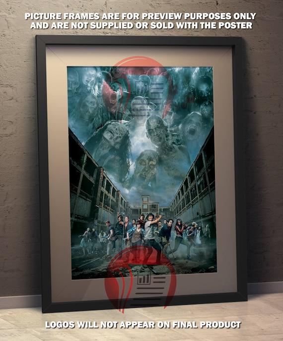 The Walking Dead Montage Fan Art Poster Etsy