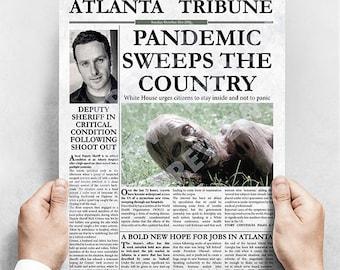 The Walking Dead Inspired Fake Newspaper / Print