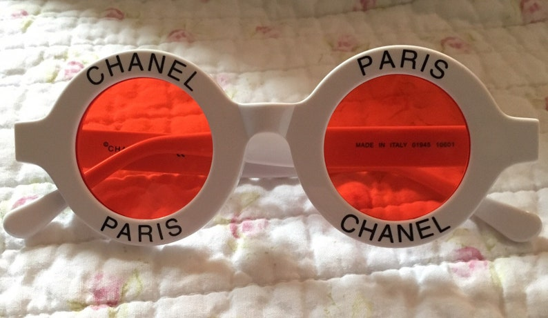 f656806c39 Vintage Authentic Chanel Round White Womens Sunglasses