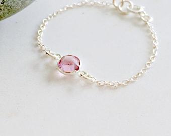 silver baby bracelet christening bracelet baptism bracelet birthstone bracelet baby jewelry birthstone jewelry new baby personalized gift