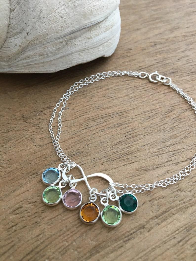 0c2d516bd3bbfd Infinity Birthstone Bracelet 925 Sterling Silver swarovski