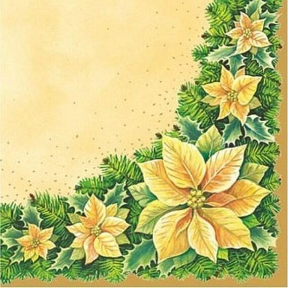 4 papel de Almuerzo Servilletas Para Decoupage Mesa de Fiesta Artesanía Vintage Magic Flores 1