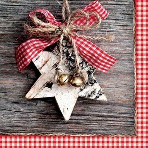Decoupage Paper Lunch Napkins Serviettes Wooden Star Set