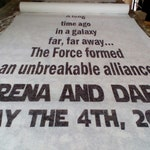 50 ft Star Wars rayon non woven runner. Charming!