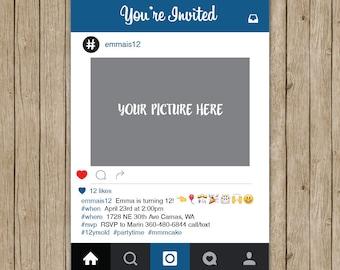 Instagram Invitation Etsy