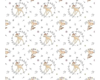 White Bambi Woodland Dreams Disney 100/% Cotton Springs Creative 25cm