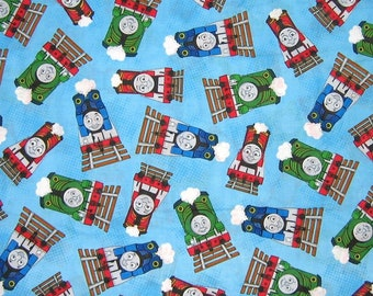 Thomas the Train Fabric Thomas and Friends in Blue Fabric From VIP 100% Cotton