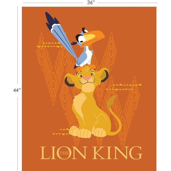"Disney Princesses Character Blocks Camelot 100/% cotton Fabric Panel 35/"" x 43/"""